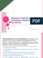 Producción de Huevos Enteros, Yemas y Claras