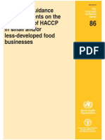 [World Health Organization] FAO WHO Guidance to Go HACCP