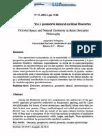 Espacio pictórico y geometría natural en René Descartes