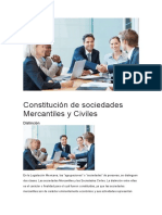 Constitución de Sociedades Mercantiles y Civiles