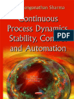 Continuous Process Dynamics, Stability, Control and Automation [2015]