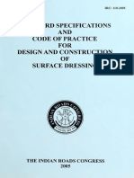 IRC 110-2005 Standard Specifications and Code of Practice for Design and Construction of Surface Dressing