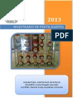 Informe de Muestrario de Fertilizantes