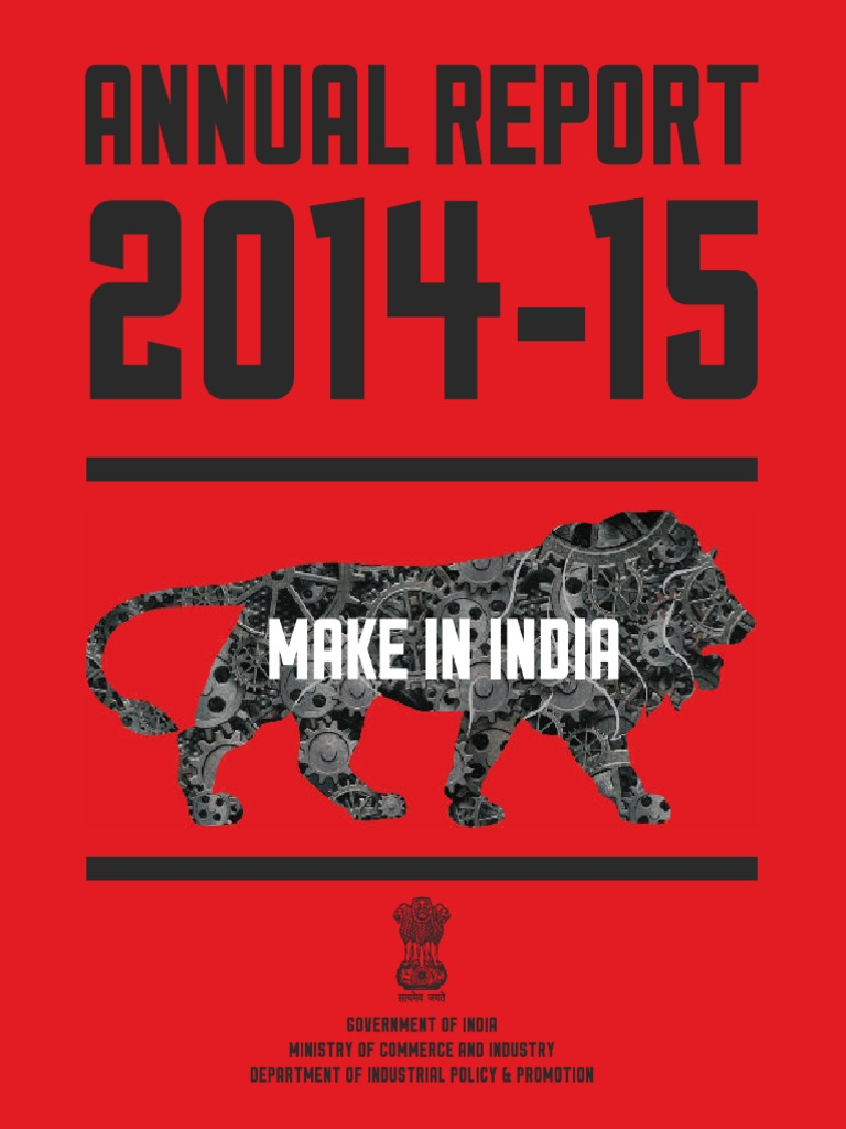 AnnualReport_Eng_2014 15  Make In India | Business | Economies