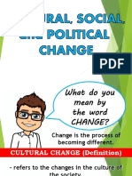 Lesson 2 Cultural, Social, Political Changes