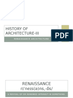 Week 03 Renaissance Architecture