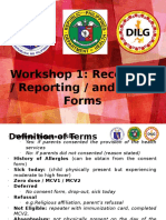 4. Workshop 1 Recording-Reporting Form