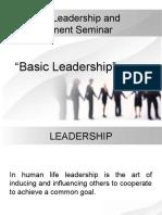 Nursing Leadership and Management Seminar