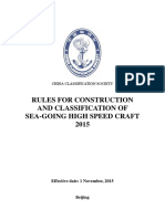 Rules for Construction and Classification of Sea-Going High Speed Craft %282015%29-CL