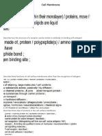 Cell Membrane(Paper 2)