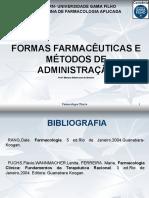 Formas Farmacuticas e Vias Administrao