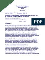 Alliance for Rural Reconstruction vs Comelec
