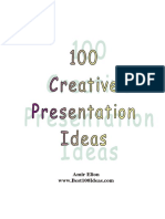 Best100Ideas Creative Presentation Ideas