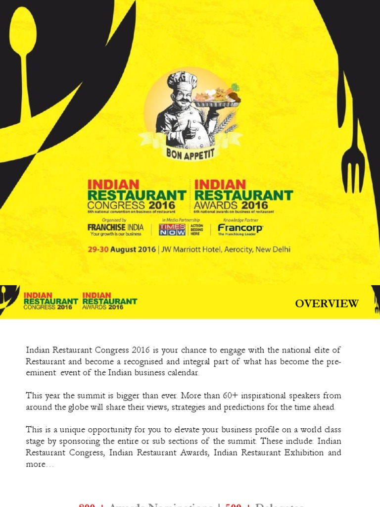 Indian Restaurant Congress & Awards 2016 | Restaurants | Brand