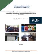 RAKOTOMALALA, Bodo, Case study under the social sector public expenditure review – 2014, Antananarivo