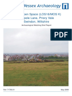 Public Open Space (LOS 16/MOS K), Tadpole Lane, Priory Vale, Swindon, Wiltshire