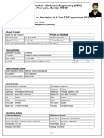 Nitie Application Form