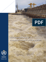 Manual on Estimation Of Probable Maximum Precipitation