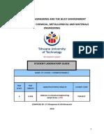 Thermodynamics - Applied III (TDA301T)