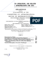 HOUSE HEARING, 113TH CONGRESS - STATE, FOREIGN OPERATIONS, AND RELATED PROGRAMS APPROPRIATIONS FOR 2013