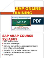 online sap abap training in India|Hyderabad|USA|UK