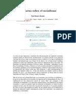 Ruy Mauro Marini - Dos Notas Sobre El Socialismo