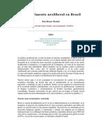 Ruy Mauro Marini - El Experimento Neoliberal en Brasil
