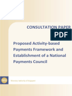 Proposed Activity Based Payments Framework and Establishment of a National Payments Council