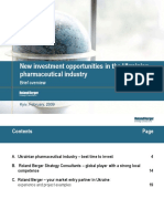 PharmaI investment Opportunities in ukraine