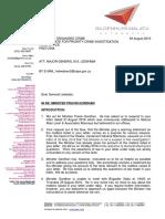 Malatji Letter to Hawks - 24082016