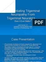Differentiating Trigeminal Neuropathy From Trigeminal Neuralgia.ppt