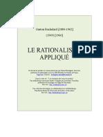 G. Bachelard, La Rationalisme Appliqué