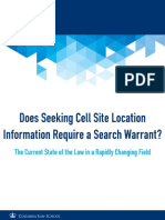Does Seeking Cell Site Location Information Require a Search Warrant - Wesley Cheng - August 2016 Update
