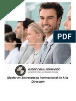 Master en Secretariado Internacional de Alta Dirección