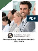 Master en Técnicas y Métodos de Laboratorio Clínico (Online)