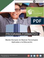 Máster Europeo en Nuevas Tecnologías Aplicadas a la Educación