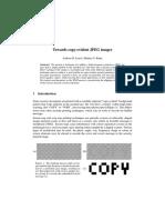 Copy-evident JPEG Images