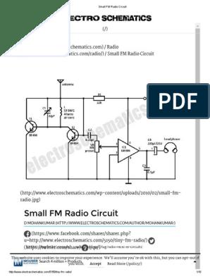 Am Radio Circuit Diagram Pdf - Example Wiring Diagram
