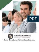 Master Executive en Valoración de Empresas