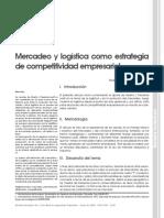 Mercadeo y Logistica Como Estrategia de Competitividad Empresarial