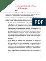 Les origines et la specificité de la reflexion.pdf