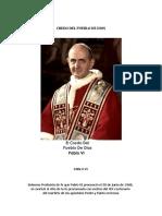 El Credo Del Pueblo de Dios - Pablo VI