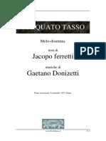 Torquato Tasso, libreto