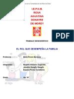 Monográfico El Rol Que Desempeña La Familia