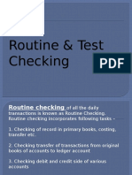 Routine & Test Checking