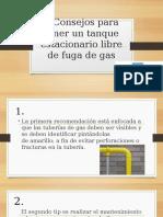 6 consejos para tener un tanque estacionario libre de fuga de gas