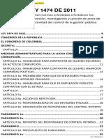 LEY 1474 de 2011 - Estatuto Anticorrupción