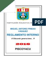Reglamento Interno Ie. Mapv - 2016