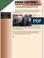 Prensa Latina - Cronologia Años 90