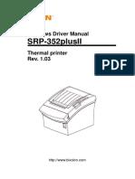 Manual Srp-352plusii Windows Driver English Rev 1 03